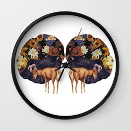 Double deer Wall Clock