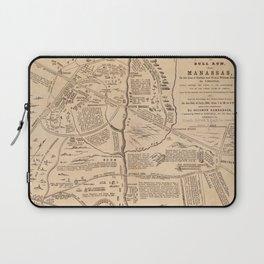 Vintage Map of The Battle of Bull Run (1861) Laptop Sleeve