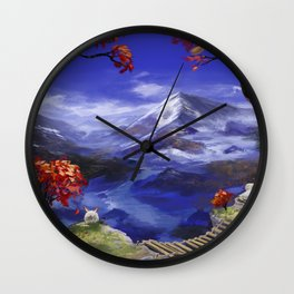 Mountains 're Nice Wall Clock
