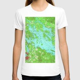 Vintage Map of Lake Winnipesaukee (1956) T-shirt