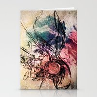 drum Stationery Cards featuring Drum by Joanne Chen