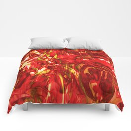 Fluid Painting (Red Version) Comforters