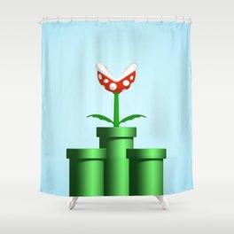 Pakkun Flower with Fire Balls Shower Curtain