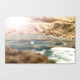 Cavity land. Canvas Print
