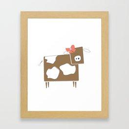Cow Lady Framed Art Print