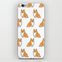 corgi iPhone & iPod Skins featuring C2 by alyruko