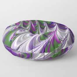 Purple and Green Abstract Floor Pillow