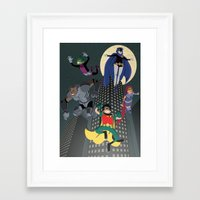 teen titans Framed Art Prints featuring Teen Titans by Fuacka