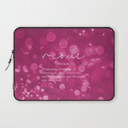 Moxie Definition - Pink Bokeh Laptop Sleeve