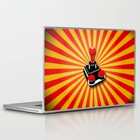 gaming Laptop & iPad Skins featuring Retro Gaming by MaNia Creations