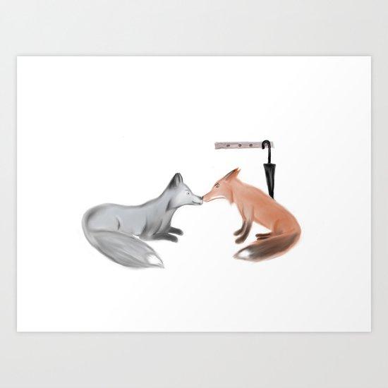 Fox!Mystrade Art Print