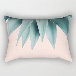 Agave fringe - peach Rectangular Pillow