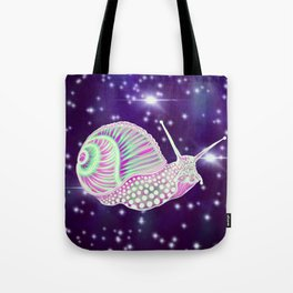 Psychedelic Space Snail Tote Bag