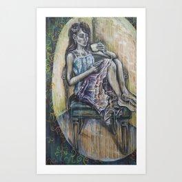 Contemplations of Teacup Art Print