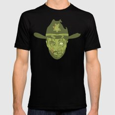 Grimes LARGE Black Mens Fitted Tee