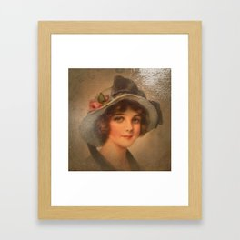 Vintage Lady 02 Framed Art Print