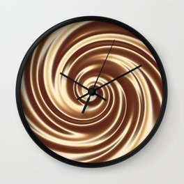 Chocolate milk cocktail spiral Wall Clock