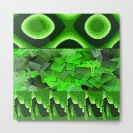 The Multiverse of Green pillows Metal Print
