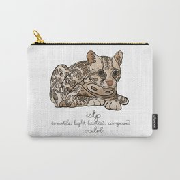 ISTP MBTI Spirit Animal: Ocelot Personality Carry-All Pouch