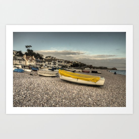 Boats at Budleigh  Art Print