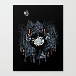 fairytale night forest Canvas Print
