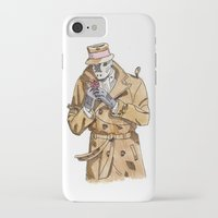 rorschach iPhone & iPod Cases featuring Rorschach by Of Newts and Nerds