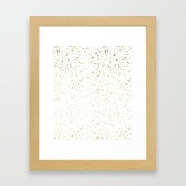 Los Angeles Nights Gold Paint Framed Art Print