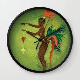 Coco LaSamba - A Burlesque Jungle Christmas Wall Clock