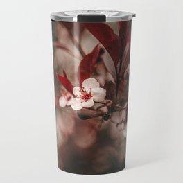 Little White Blossoms Travel Mug