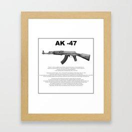 AK-47 History Framed Art Print