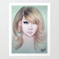 2ne1 Art Prints featuring CL (2NE1) - Lee Chae Rin by Hileeery