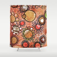 brown Shower Curtains featuring brown by Mojca G. Vesel