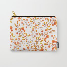 Hand painted orange gold fall berries floral Carry-All Pouch