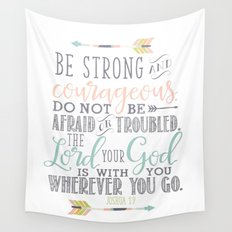 Joshua 1:9 Bible Verse Wall Tapestry