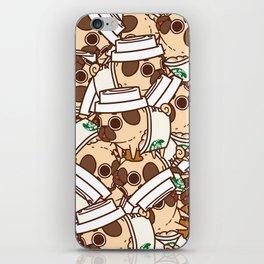 Puglie Pugkin Spice Latte iPhone Skin