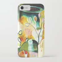 "flora bowley iPhone & iPod Cases featuring ""Deep Growth"" Original Painting by Flora Bowley by Flora Bowley"
