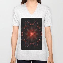 Mandala Fire Embers 2 Unisex V-Neck
