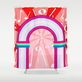 Musical Notes Archway Shower Curtain