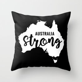 Australia Strong, Australian bush fires Throw Pillow
