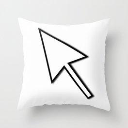 Cursor Arrow Mouse Black Line Throw Pillow