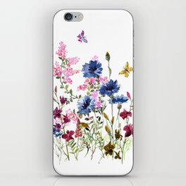 Wildflowers IV iPhone Skin