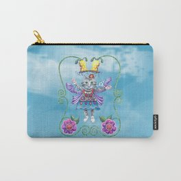Angel Kitty (Turquoise) Carry-All Pouch