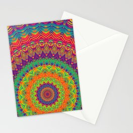Mandala 458 (NEON) Stationery Cards