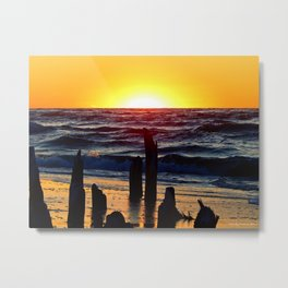 Silhouettes of the Past at Sunset Metal Print