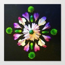 Diamond mandala Canvas Print