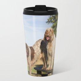 Italian Spinoni Dogs Woody & Ruben Travel Mug