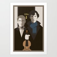 british Art Prints featuring British Gothic by Danny Haas