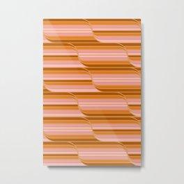 Geo Stripes - Butterscotch Metal Print