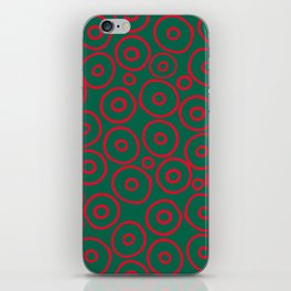 circles red and green iPhone Skin