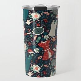 Tennis Style Travel Mug